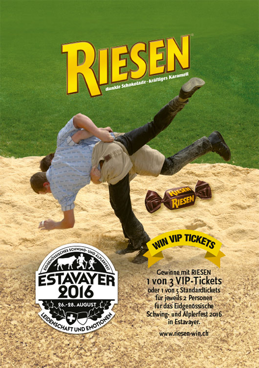 campaign and sponsoring concept for riesen communications agency