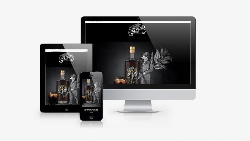 Packaging Design Jack the Gull - Website
