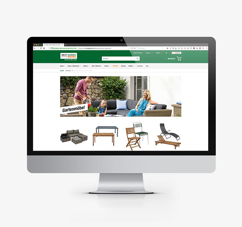 Do it + Garden Migros Webseite Frühlingskampagne