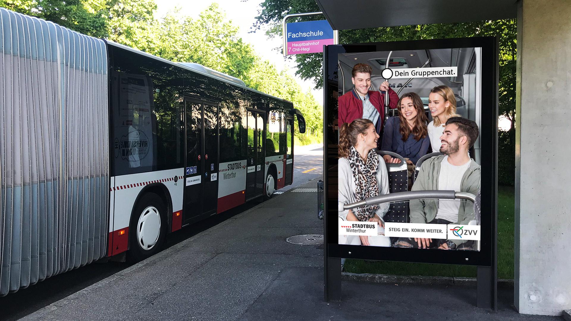 Branding-Kampagne Stadtbus Winterthur