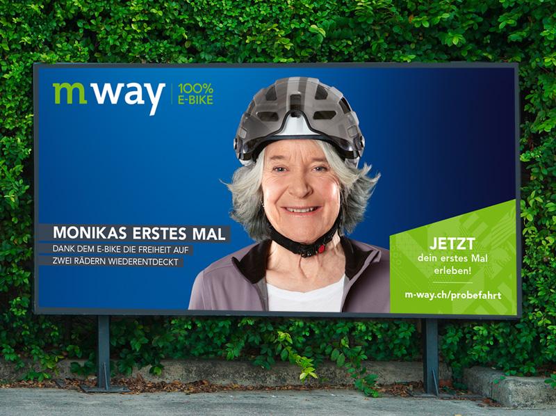Gesamtkommunikation m-way Plakatkampagne