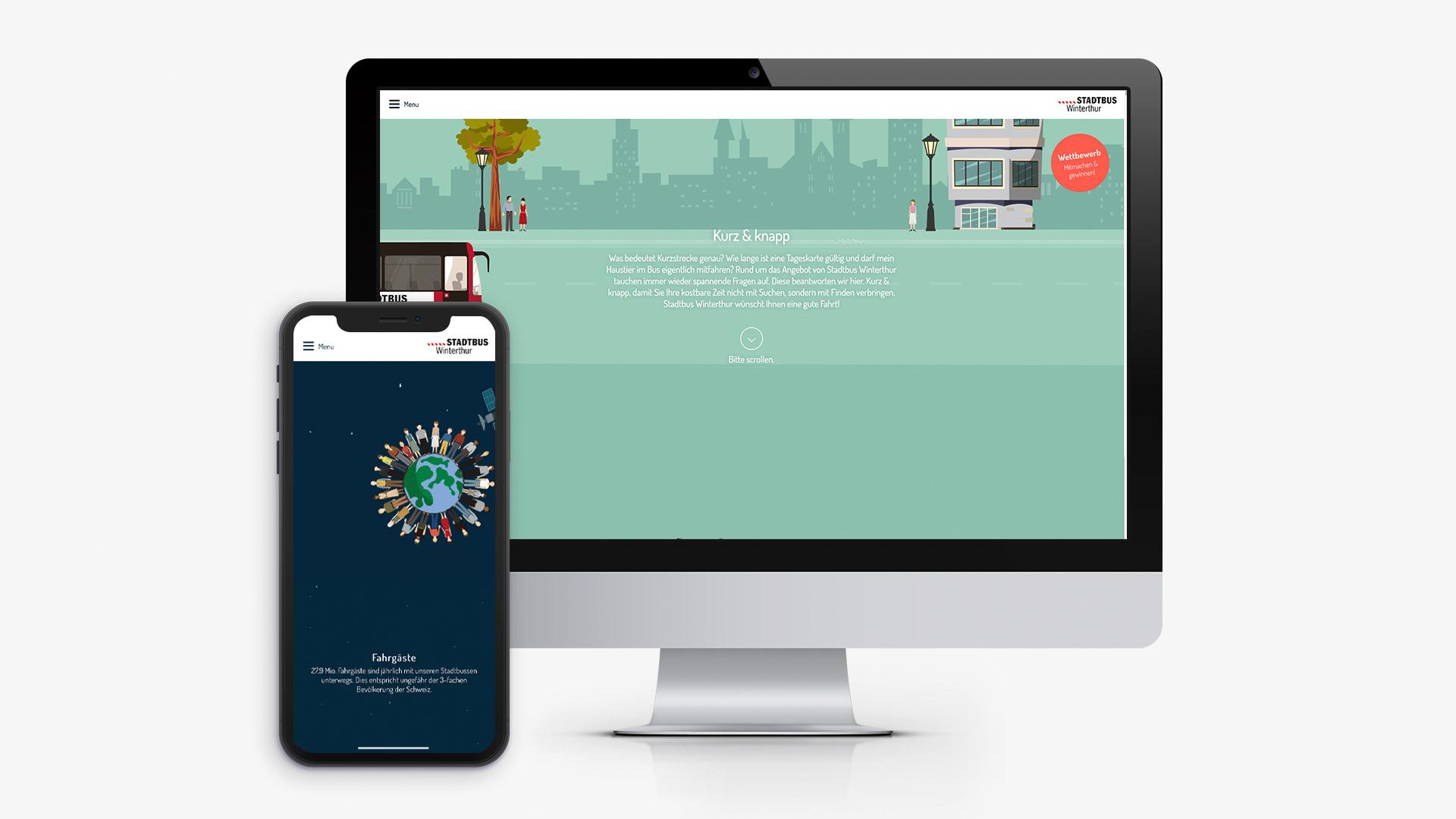 Parallax-Webseite