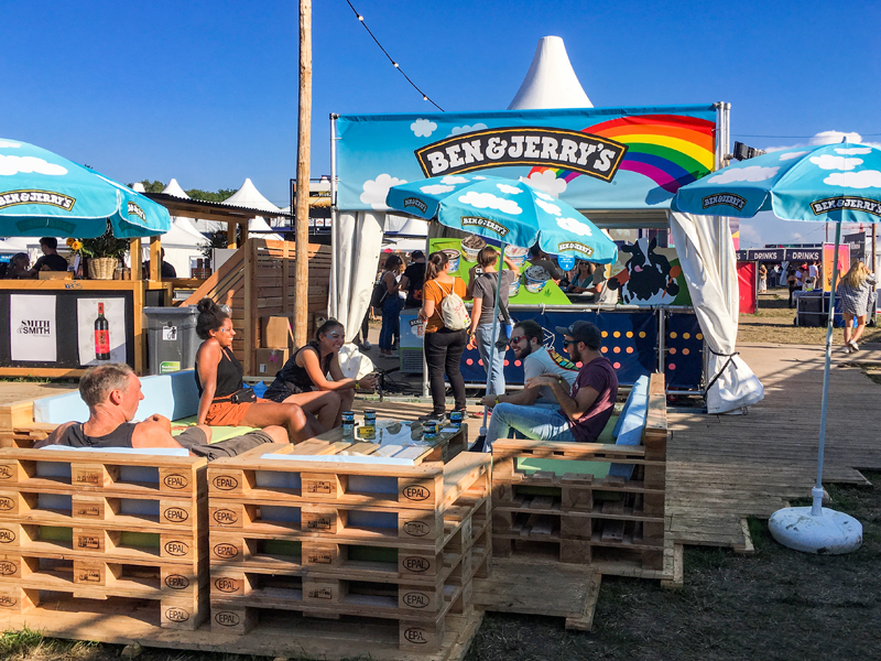 Markenauftritt für Ben & Jerry's am Zürich Openair