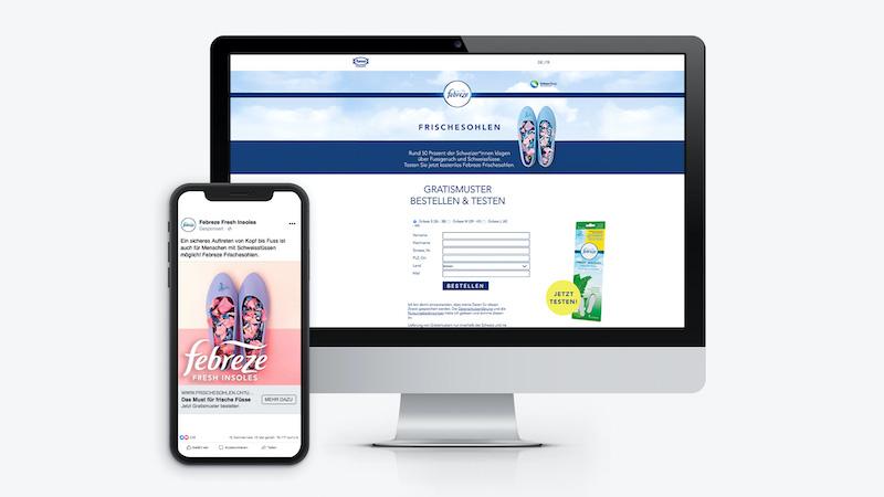 Onlinekampagne Febreze Frischesohlen