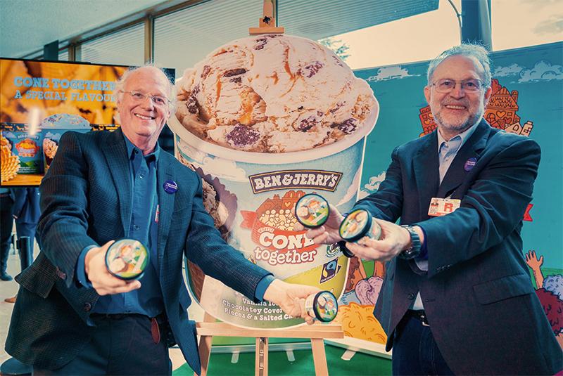 Produkteinführung für Ben & Jerry's am Global Refugee Forum