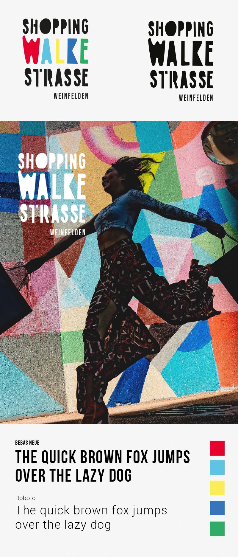 Neuer Markenauftritt Shopping Walkestrasse - Streuplan