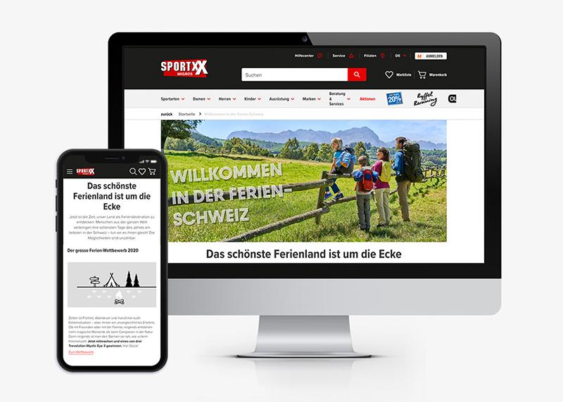 Wettbewerbskommunikation für Migros-Fachmarkt SportXX