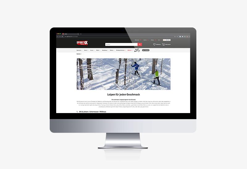 Contentseiten für Bike World und SportXX 2020