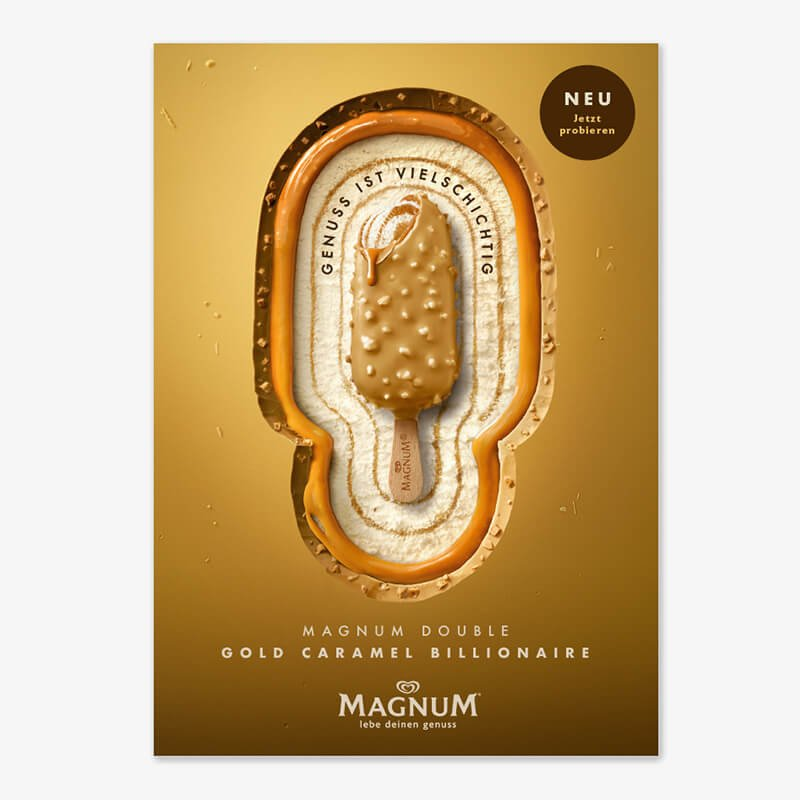 MAGNUM DOUBLE GOLD CARAMEL BILLIONAIRE - Keyvisual