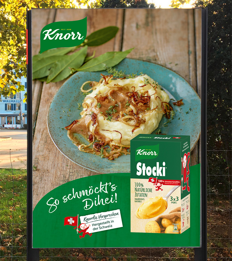 Awareness-Kampagne für Knorr Stocki