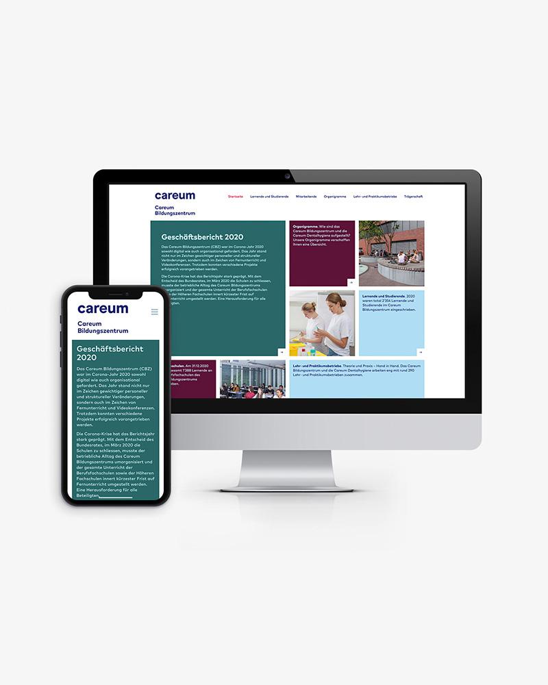 Digitaler Geschäftsbericht 2020 für das Careum – Streuplan