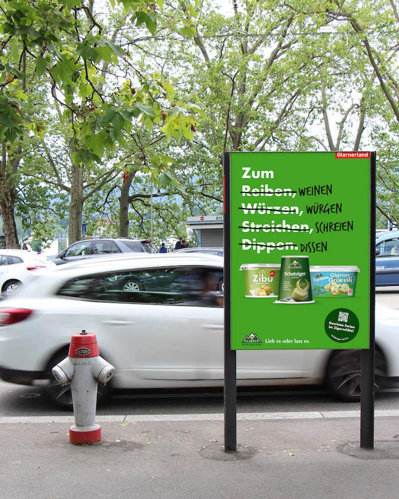 Glarner Schabziger Kampagne Streuplan