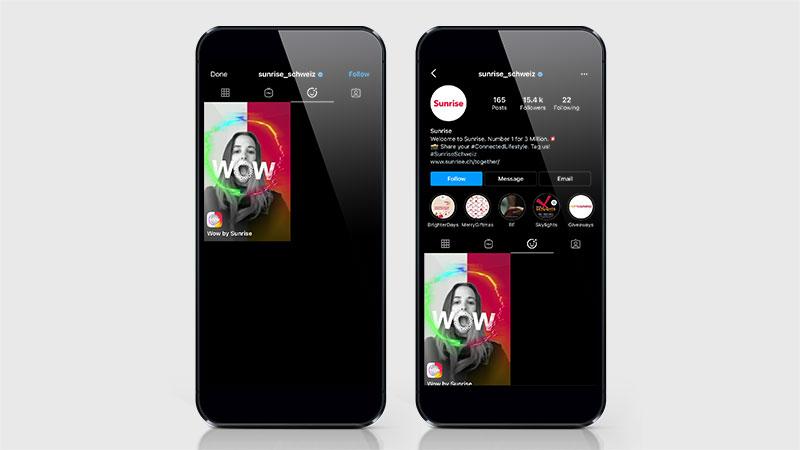 Instagram-Filter für Sunrise und UPC und mehr Wow! – Streuplan